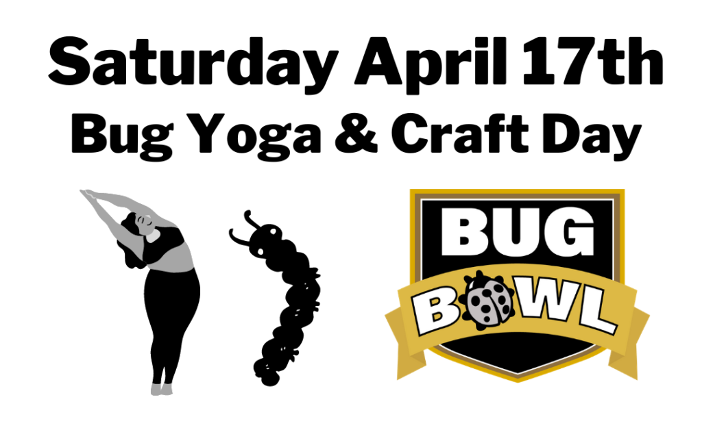Saturday is bug Yoga Day!