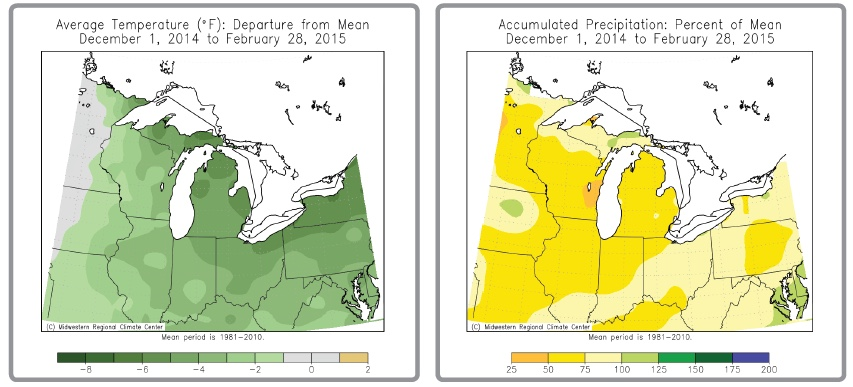 Maps courtesy of the Midwestern Regional Climate Center