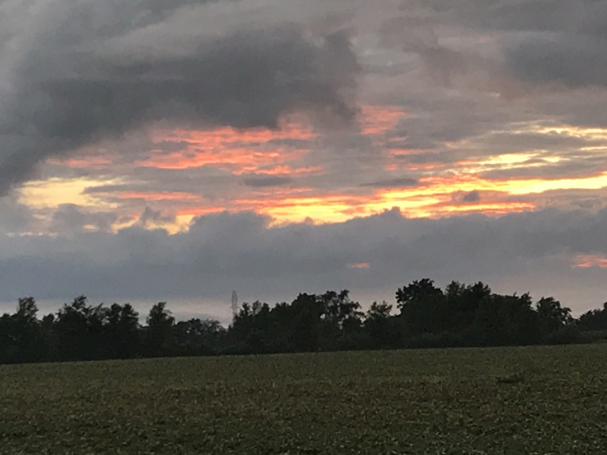 A successful hay harvest requires close attention to weather conditions. A red sky as nightfall occurs is a good omen that a dry day lies ahead. You just hope for several dry days in a row!